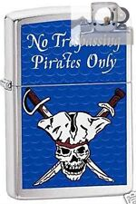 Zippo 3864 pirates only trespassing Lighter with PIPE INSERT PL