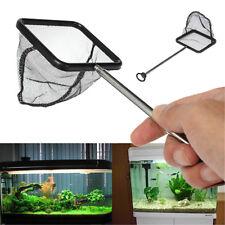 Aquarium Extendable Shrimp Small Betta Tetra Square Black Fish Tank Net 20-40cm