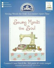 DMC SEWING MENDS THE SOUL COUNTED CROSS STITCH KIT 20x25cm BK1433 - NEW 2014