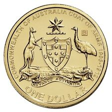 2008 $1 Australia's Original Coat of Arms Dollar Australian Coin B Privymark