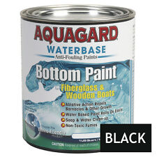 Aquagard Waterbase Anti-Fouling Boat Bottom Paint 1Qt Quart BLACK Barnacle Repel