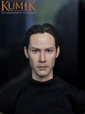1/6 Head Sculpt KUMIK 15-2 Keanu Reeves Matrix Neo For Hot Toys Body