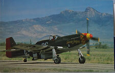 "George E Lawrence North American P-51D Mustang AAC ""Stump Jumper"" Postcard"