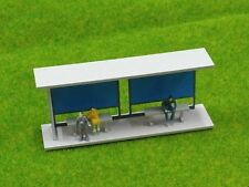HO scale 1/87 Plastic Bus Stop for Model train layout
