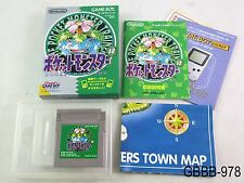 Complete Pokemon Green w/map Game Boy Japanese Import GB Japan US Seller B