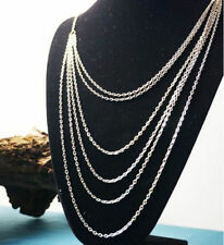 New Fashion Silver 7 layer Long Tassel Pendant Charm Necklace Sweater Chain