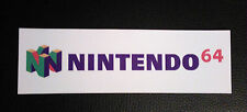 Nintendo 64 Logo Sticker Decal