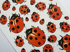 LADYBIRD STICKERS. Kids, childrens étiquettes pour craft & décoration, 4400