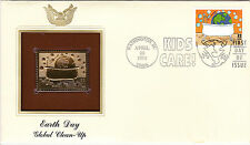 (18930) USA FDC Earth Day - with 22Ct Gold replica stamp Washington DC 1994