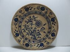 Antique MEISSEN Wedgwood Etruria England Plate POMEGRANATE Peach BLUE ONION 9""