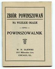 Polish Toasts for All Occasions - Zbior Powinszowan -Sajewski Publishers Chicago