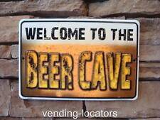 Beer Cave Embossed Tin Metal Bar Pub Budweiser Coors Garage Welcome to the Beers