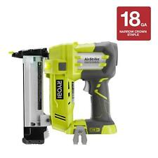 "Cordless Narrow Crown Stapler Air Gun 18-Gauge 18V 3/8"" Nailer Staples Nail Tool"