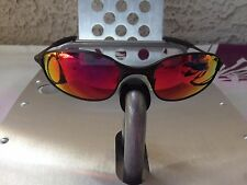 VT-OAKLEY WIRE TITANIUM SUNGLASSES GUNMETAL/+RED IRIDIUM