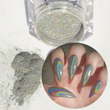 1g/Box Holographic Laser Powder Nail Glitter Rainbow Pigment Manicure Chrome NEW