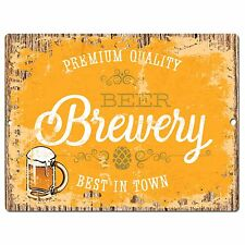 PP0830 BREWERY BEER Parking Plate Chic Sign Home Bar Pub Cafe Restaurant Decor