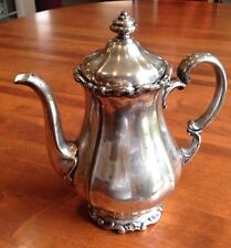 "11 X 9 X 6"" Antique WMF Porcelain lined Coffee Pot Silverplate silver on copper"