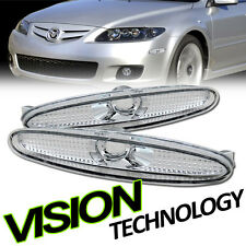 Euro Clear Front Parking Bumper Side Reflector Lights Ks 03-07 08 Mazda6 Mazda 6