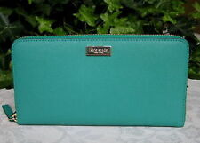 Kate Spade Wallet WLRU1498 Neda Newbury Lane Saffiano Leather Dusty Emerald