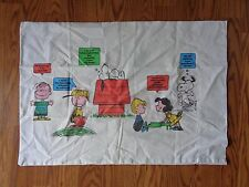 1971 Peanuts Gang Snoopy Twin 2 Fitted Bed Sheet 3 Pillowcase Happiness is