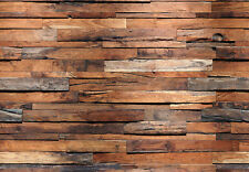 366x254cm Giant wall mural photo wallpaper Wooden style living room background