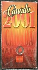 2001P RCM CANADA 25 CENT - Painted Red Maple Leaf Sealed Orig. Pkg.