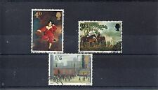 GB 1967 BRITISH PAINTINGS SG 748 to 750 used