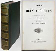 VOYAGE DANS LES DEUX AMÉRIQUES, A. d'Orbigny, gravures cartes, Furne & Cie 1853
