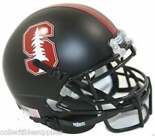 BRAND NEW 2015 STANFORD CARDINAL ALTERNATE BLACK SCHUTT MINI FOOTBALL HELMET