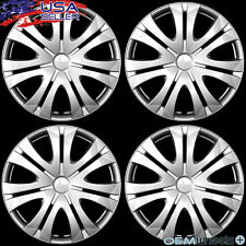 "4 NEW OEM SILVER 16"" HUB CAPS FITS HONDA SUV CAR ABS JDM CENTER WHEEL COVER SET"