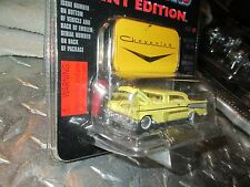 1957 chevy BELAIR    Racing Champions RC ERTL MINT  1:61 Scale YELLOW  nice