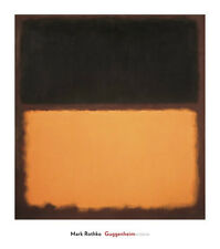 ABSTRACT ART PRINT Untitled (#18), 1963 Mark Rothko Brown over Gold Poster 34x30