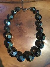 Stunning Chunky Retro Mirror Glitter Ball Acrylic Necklace From Joy London New
