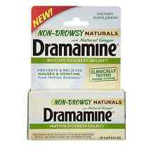 Dramamine Non-Drowsy Naturals with Natural Ginger 18 ea
