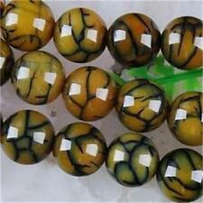 6mm Green Dragon Veins Agate Round Loose Beads 15inch