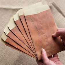 10pcs Vintage Paper Envelopes Mini Retro Brown Kraft Paper Postcards Organizer