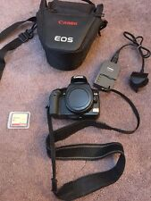 Canon EOS 400D 10.1MP Digital SLR Camera - Black (Body Only) Charger Memory Card