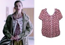 Pins And Needles British Detective Cosplay Molly SA Apple Print Blouse Top M 10