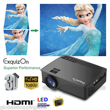 5000 Lumens 1080P Mini LED Projector HD Multimedia Home Cinema 3D HDMI USB SD AV