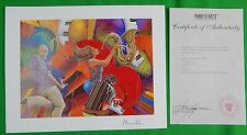 US 2005 Love That Jazz Seriolithograph Painting MARCUS GLENN Certified Signed