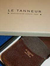 LE TANNEUR FRANCE porte monnaie repliable CUIR LEATHER bag