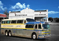 AUTOMOTIVE ART - GREYHOUND BUS  - HAND FINISHED, LIMITED EDITION (25)