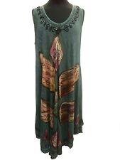 Sundress / Beach / Holiday Cover Up / Kaftan Swing dress size 18  Slimming