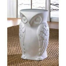 Owl Stool Indoor/Outdoor White Table - New