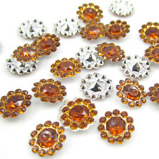 NEW DIY 50pcs 12MM amber Resin flatback Scrapbooking for phone/wedding/Crafts D1