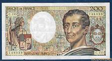 200 Francs Montesquieu Type 1981 - 1994 C.155 (39) Qualité TTB +