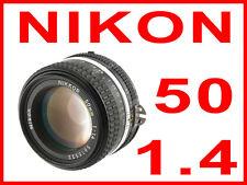NIKON NIKKOR 50mm f/1.4 AIS MF portrait lens F mount FX DSLR D5 D4S D810 FM2 F3