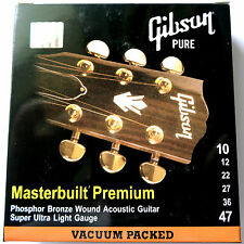 Gibson 10-47 lumière Masterbuilt phosphor bronze acoustic guitare strings SAG-MB10