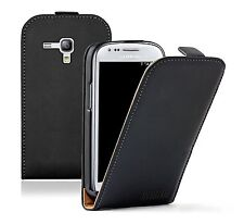 Black Samsung Galaxy S 3 mini i8190 LA FLEUR PU Leather Vertical Case cover