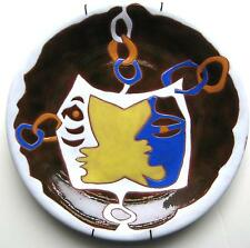IMPORTANT & RARE JEAN LURCAT MID CENTURY CERAMIC POTTERY PLATE MODERN ABSTRACT